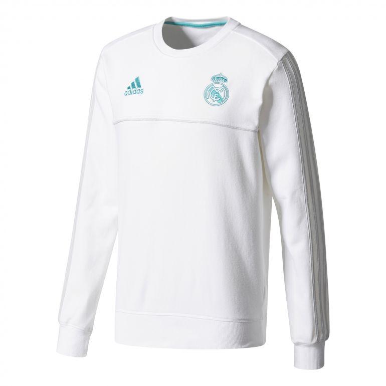 Sweat entraînement Real Madrid blanc vert 2017/18