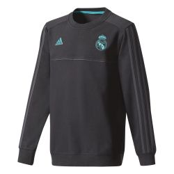 Sweat entraînement junior Real Madrid noir 2017/18