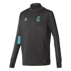 Sweat entraînement junior Real Madrid noir vert 2017/18