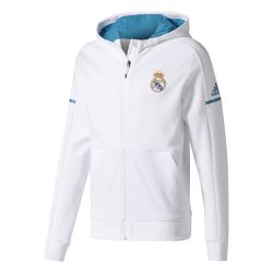 Veste survêtement Real Madrid anthem blanc 2017/18