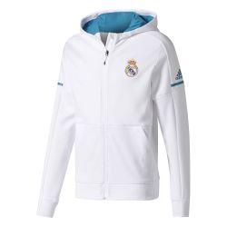 Veste survêtement Real Madrid anthem blanc 2017/18
