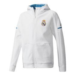 Veste survêtement junior Real Madrid anthem blanc 2017/18
