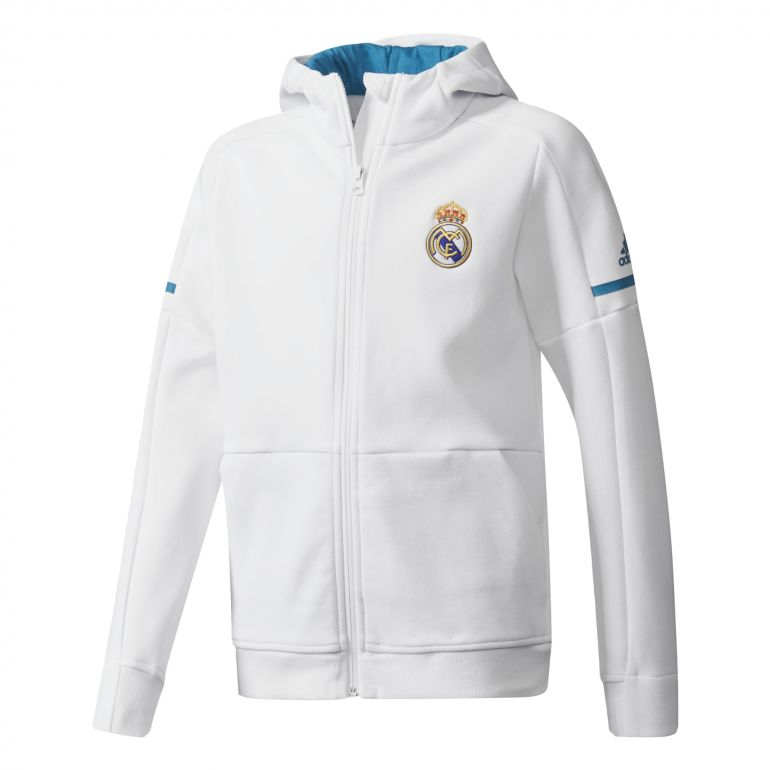 Veste survêtement junior Real Madrid anthem blanc 2017/18