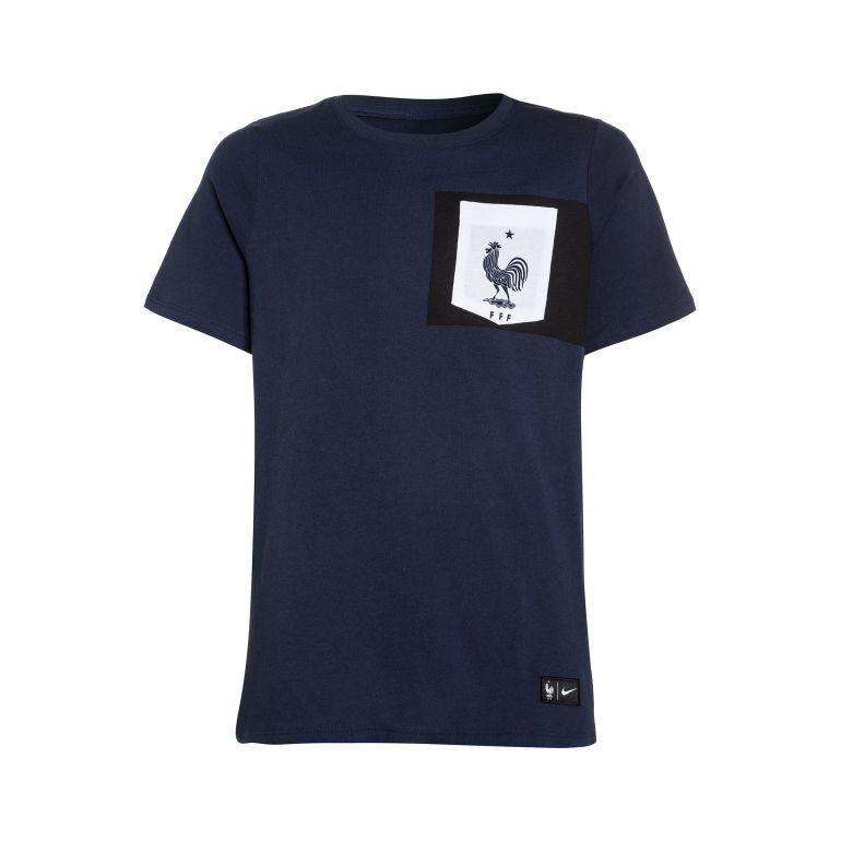 T-shirt Equipe de France bleu poche blanche 2016