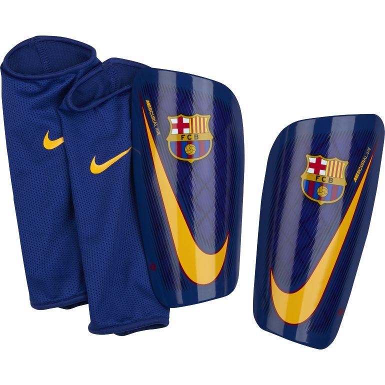 Protège tibias FC Barcelone Mercurial Lite bleu 2017/18