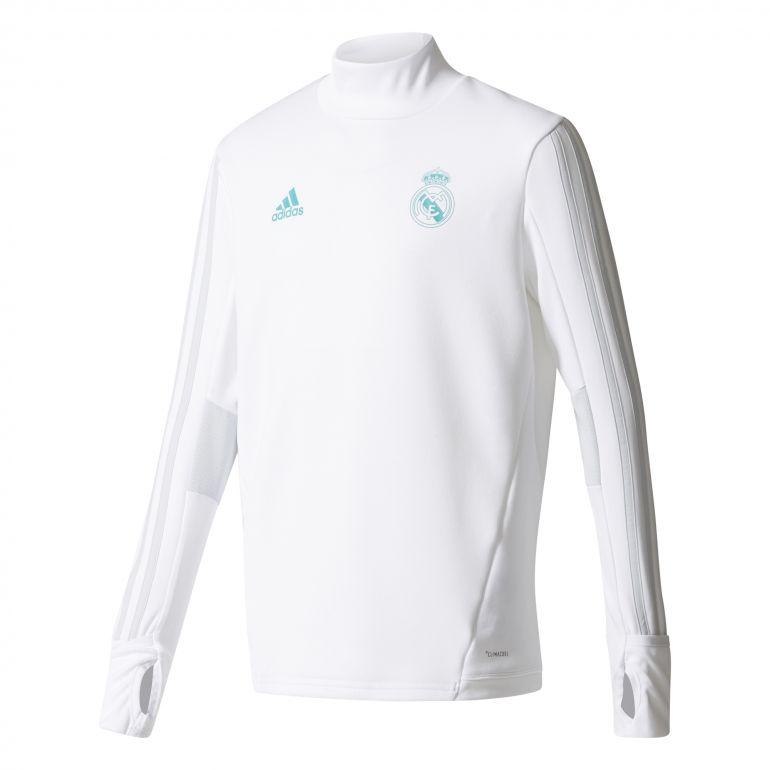 Sweat entraînement junior Real Madrid blanc 2017/18