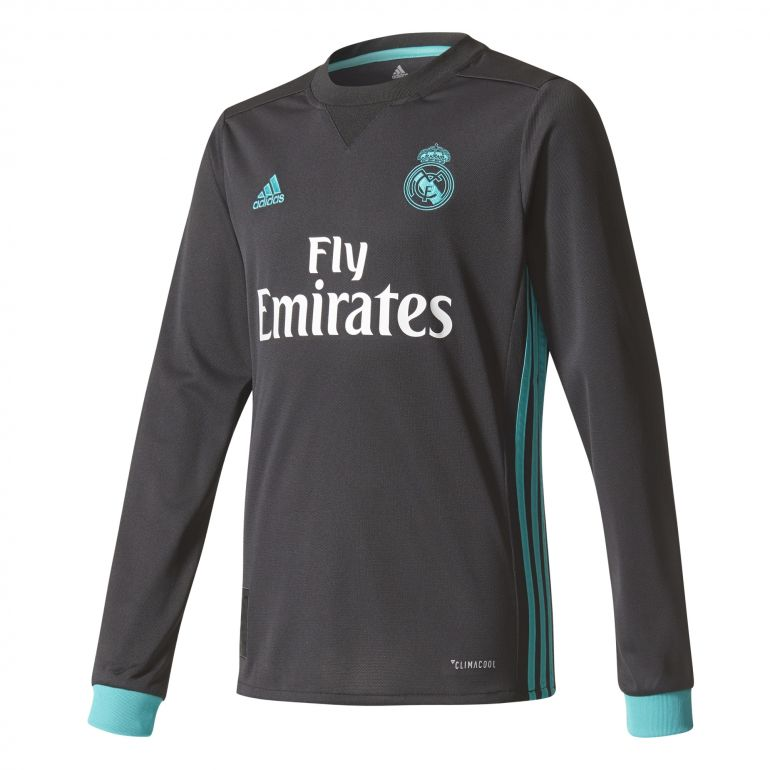 Maillot junior Real Madrid extérieur manches longues 2017/18