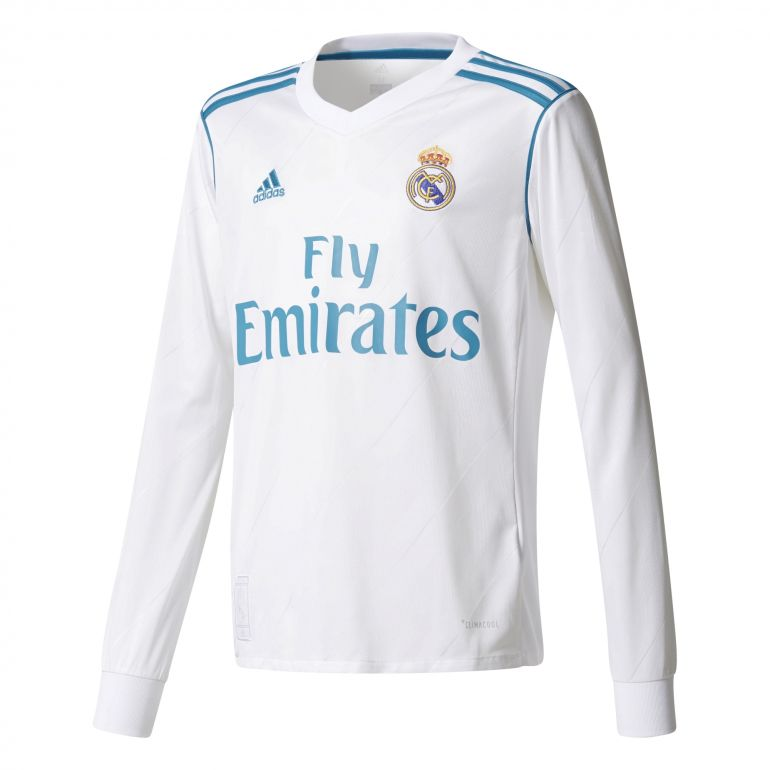 Maillot junior Real Madrid domicile manches longues 2017/18