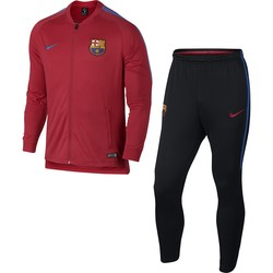 Ensemble survêtement FC Barcelone rouge microfibre 2017/18