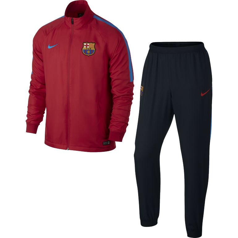 Ensemble survêtement FC Barcelone microfibre rouge 2017/18