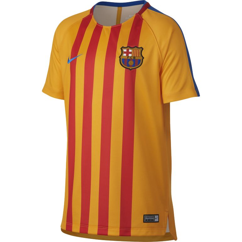 Maillot entraînement junior FC Barcelone orange 2017/18