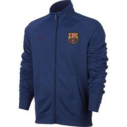 Veste survêtement FC Barcelone bleu foncé 2017/18