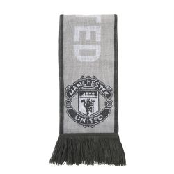 Echarpe Manchester United gris blanc 2017/18