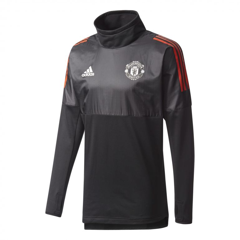 Sweat Manchester United Hybrid Top noir rouge 2017/18