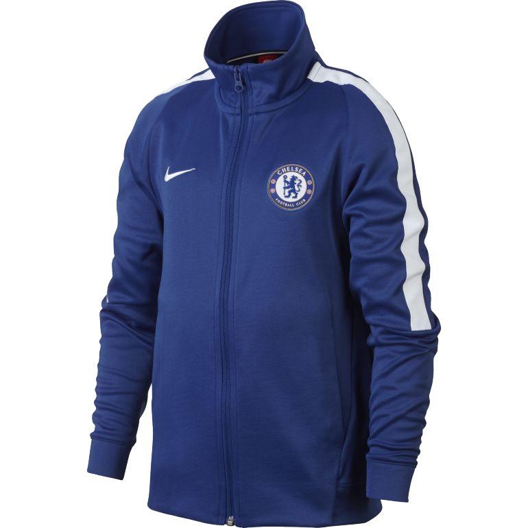 Veste survêtement junior Chelsea bleu blanc 2017/18