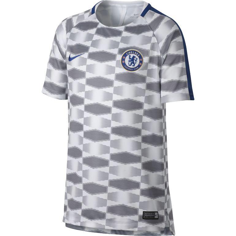 Maillot entraînement junior Chelsea blanc gris 2017/18