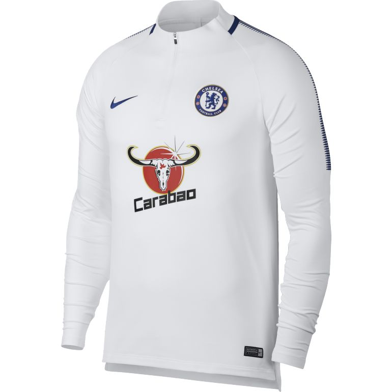 Sweat zippé Chelsea blanc 2017/18