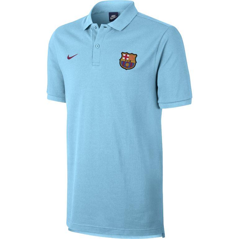Polo FC Barcelone bleu ciel 2017/18