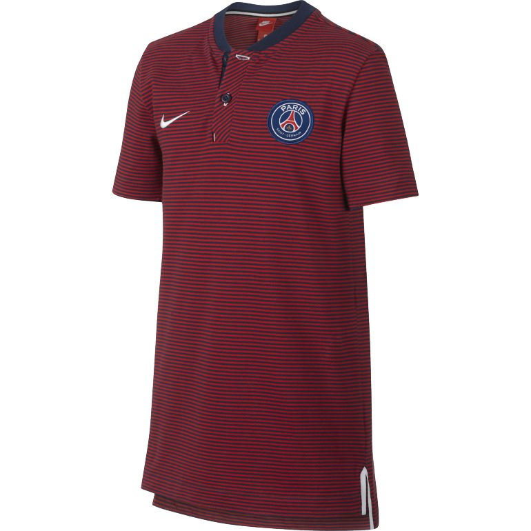 Polo junior PSG authentique bleu 2017/18