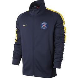 Veste survêtement PSG bleu bande jaune 2017/18