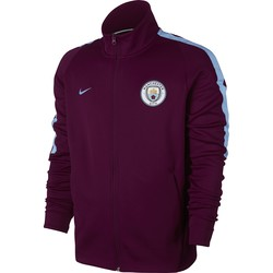 Veste survêtement Manchester City rouge 2017/18