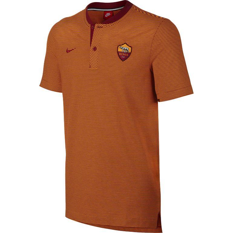 Polo AS Roma authentique orange 2017/18