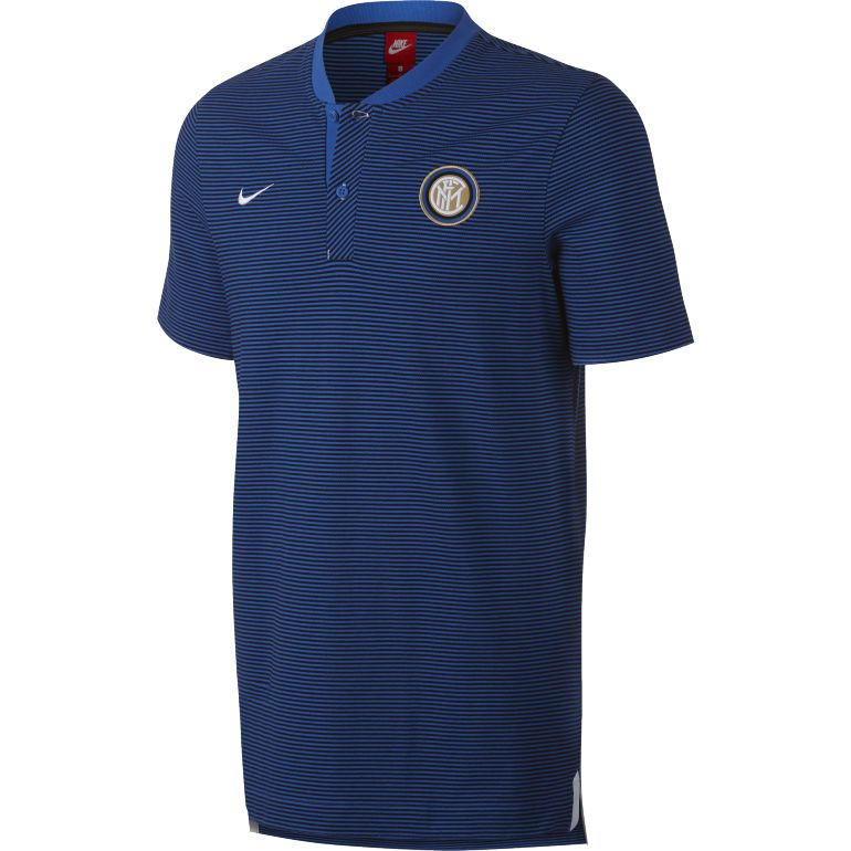 Polo Inter Milan authentique bleu 2017/18