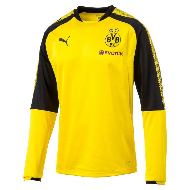 Sweat junior Dortmund jaune 2017/18