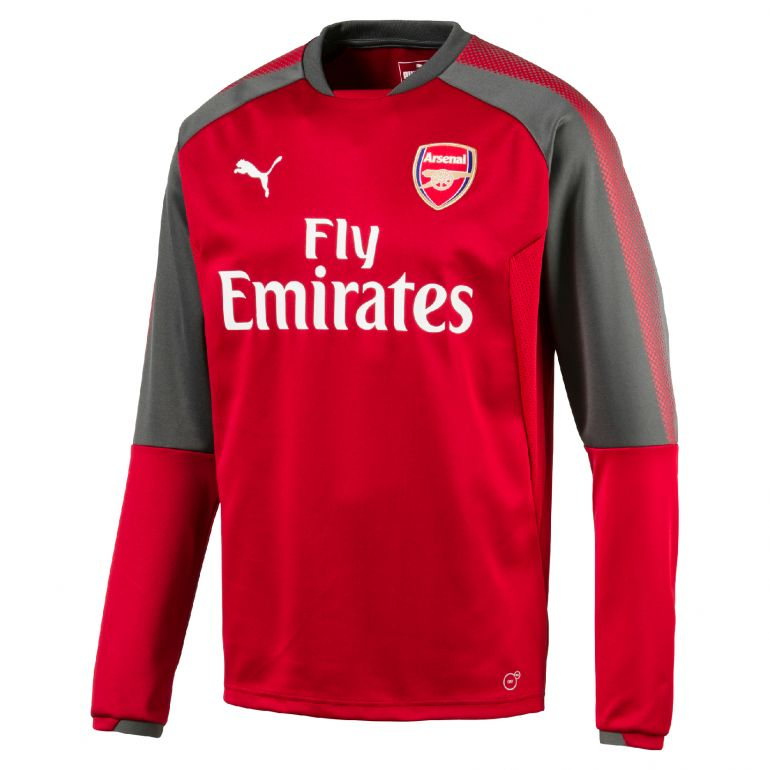 Sweat junior Arsenal rouge 2017/18