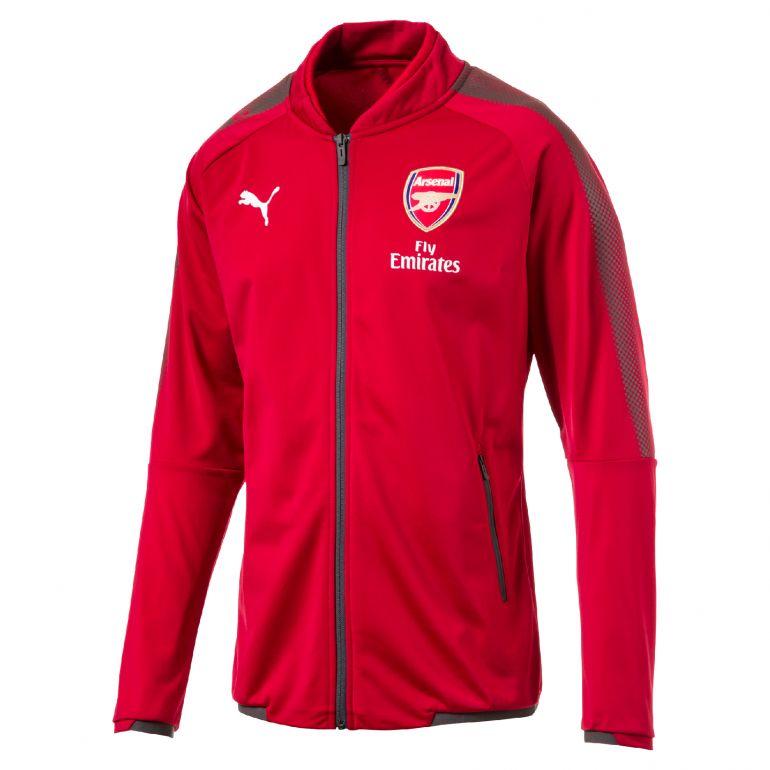 Veste survêtement junior Arsenal rouge 2017/18