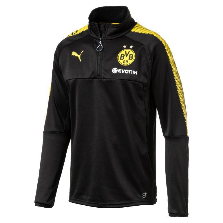 Sweat zippé Dortmund noir 2017/18
