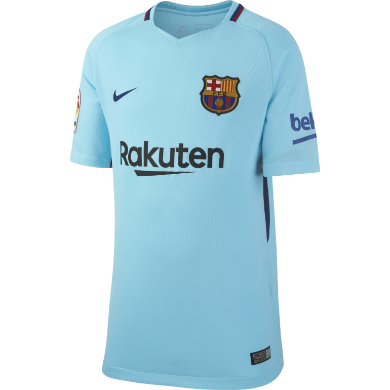 Maillot entraînement junior FC Barcelone bleu 2017/18