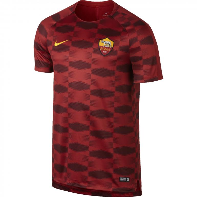 Maillot entraînement AS Roma rouge noir 2017/18