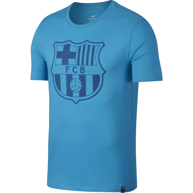 t shirt fc barcelone bleu ciel 2017 18 sur. Black Bedroom Furniture Sets. Home Design Ideas