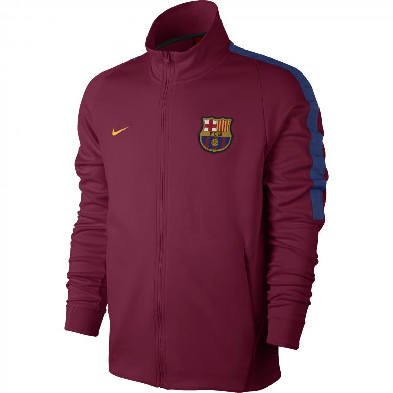 Veste survêtement FC Barcelone rouge 2017/18