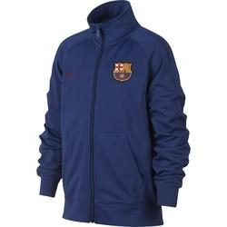 Veste survêtement junior FC Barcelone bleu foncé 2017/18