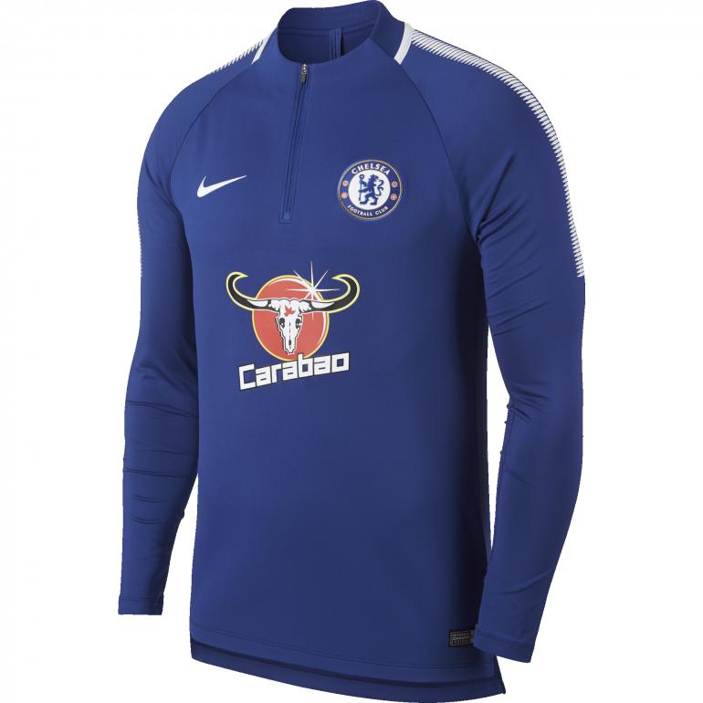 Sweat zippé Chelsea bleu 2017/18