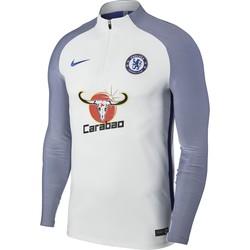 Sweat zippé technique Chelsea blanc manches bleues 2017/18