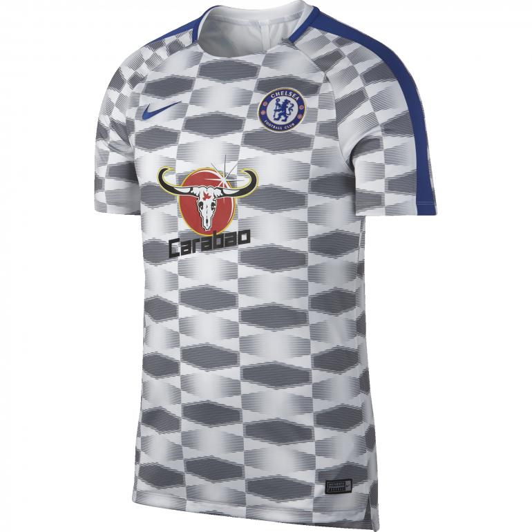 Maillot entraînement Chelsea blanc noir 2017/18