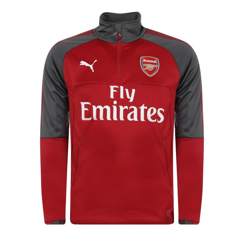 Sweat zippé Arsenal rouge 2017/18