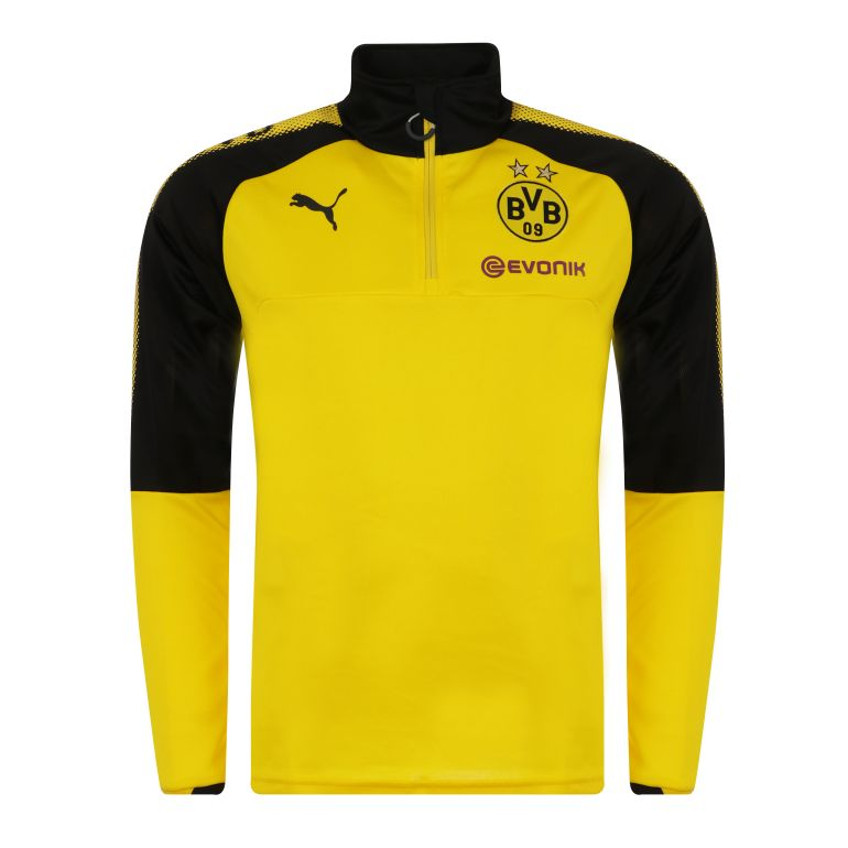 Sweat zippé Dortmund jaune 2017/18