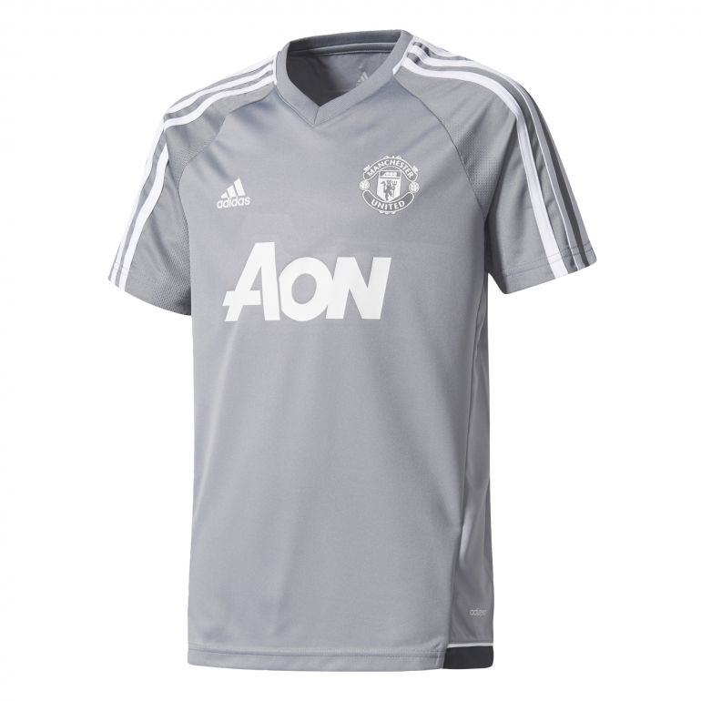 Maillot entraînement junior Manchester United gris 2017/18