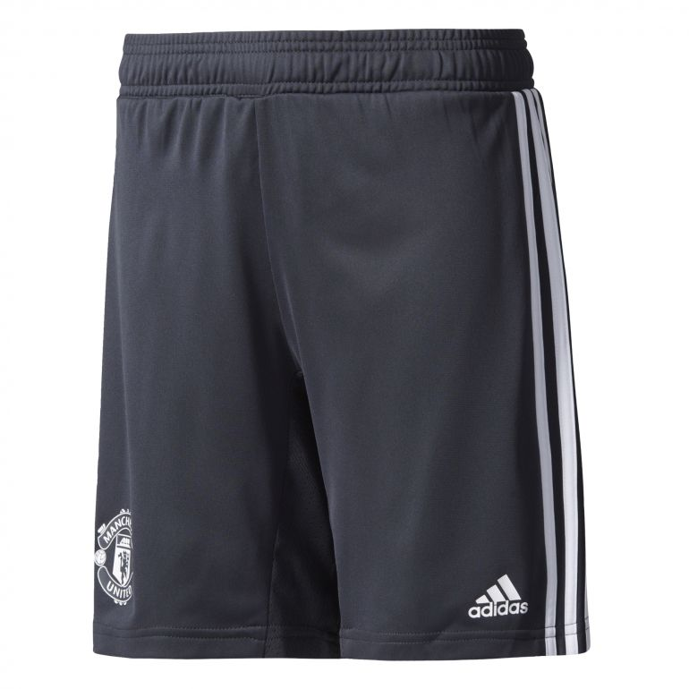 Short entraînement junior Manchester United noir gris 2017/18