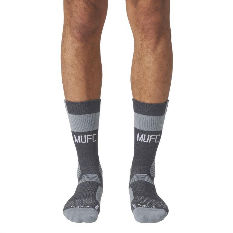 Chaussettes entraînement Manchester United noir gris 2017/18