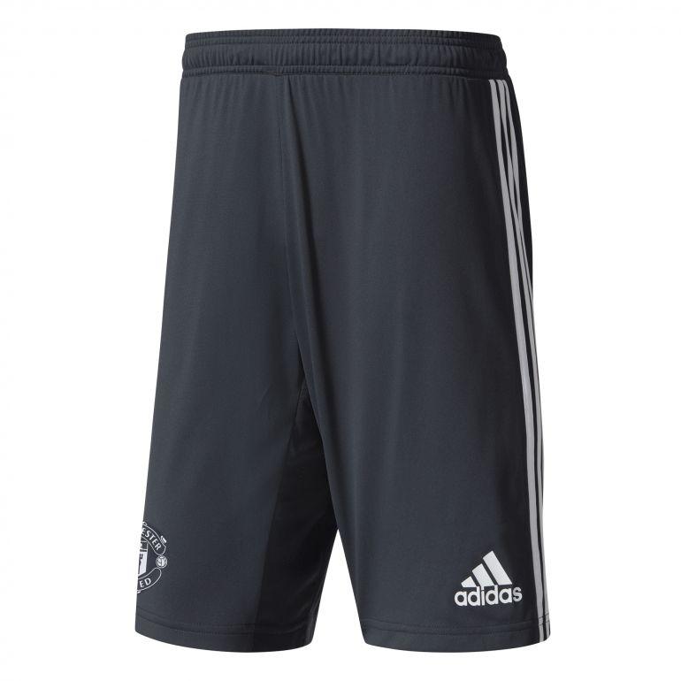 Short entraînement Manchester United noir gris 2017/18