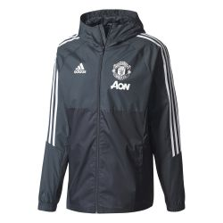 Veste imperméable Manchester United noir gris 2017/18
