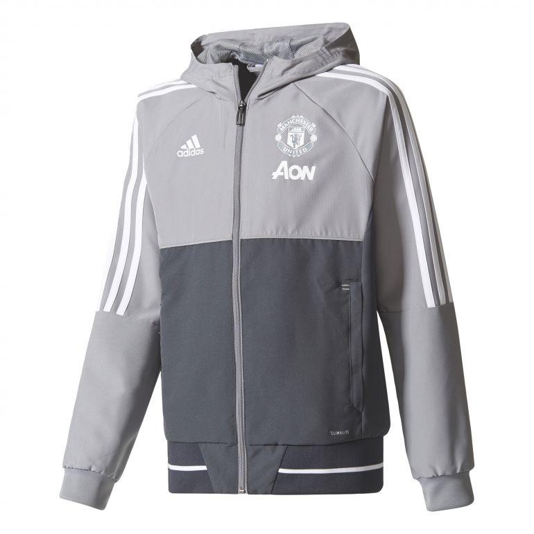 Veste survêtement junior Manchester United gris 2017/18