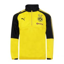 Sweat zippé junior Dortmund jaune 2017/18