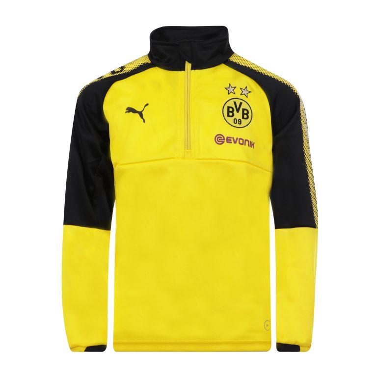 Sweat zippé junior Dortmund jaune 2017/18