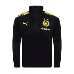 Sweat zippé junior Dortmund noir 2017/18